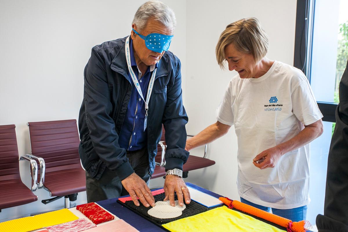 Laboratorio sensoriale con volontaria