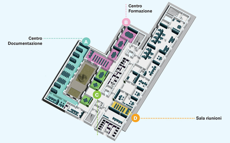 Centro Nazionale -edificio-2-piano- terra