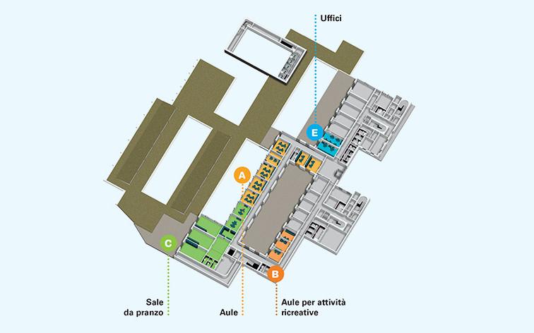 Centro Nazionale - piantina edificio-1-piano-primo