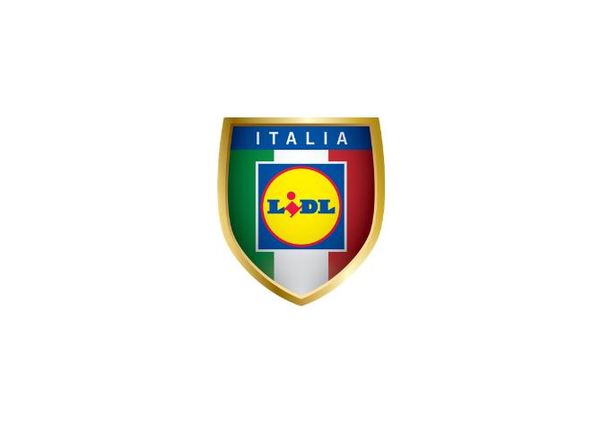 Logo azienda Lidl Italia specializzata nella grande distribuzione e alimentari. Ha sostenuto le attività della Lega del Filo d'Oro